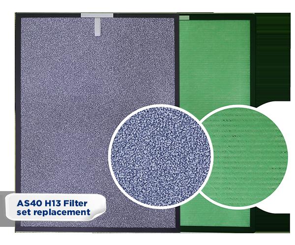 AS40 H13 HEPA filter set